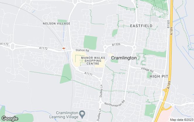 Map for Mike Rogerson Estate Agents, Cramlington