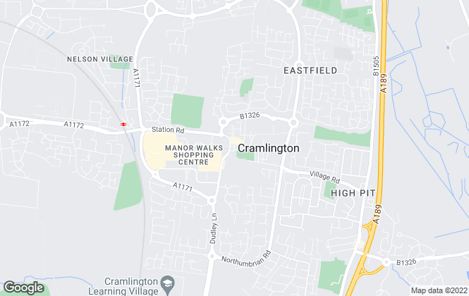 Map for Pattinson Estate Agents, Cramlington