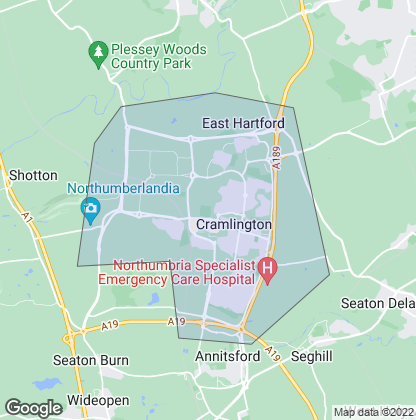 Map of property in Cramlington