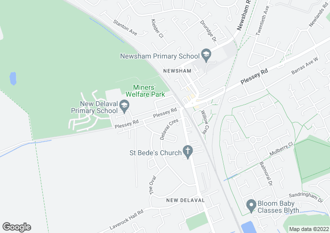 Map for Plessey Road, BLYTH, Northumberland