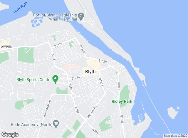 Map for Rook Matthews Sayer, Blyth
