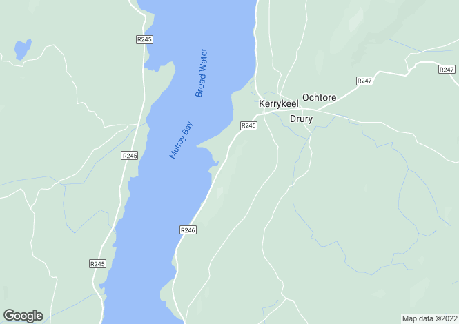 Map for Ranny, Kerrykeel, Donegal