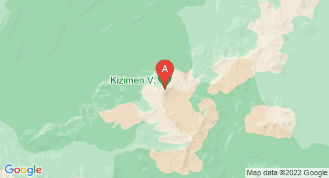 map of Kizimen (Russia)