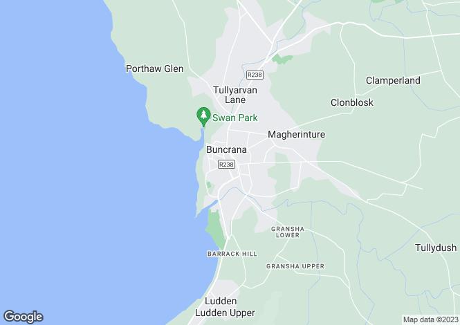 Map for 5 Church Street, Buncrana, Donegal
