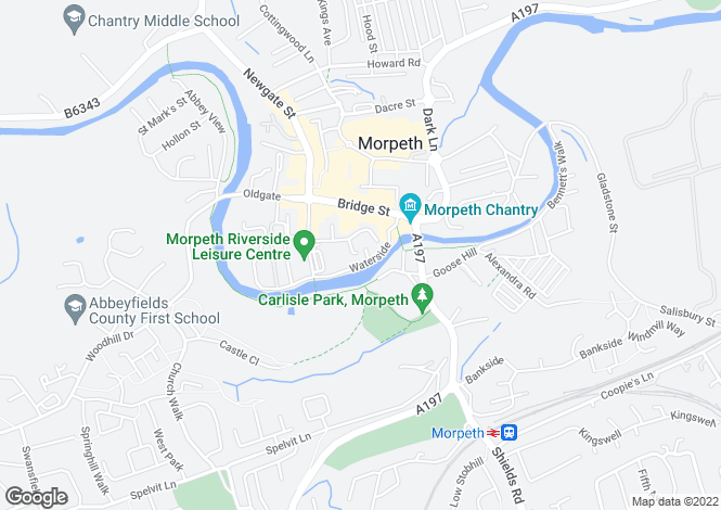 Map for Riverside, Morpeth NE61