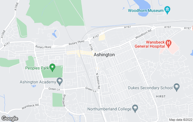 Map for Mike Rogerson Estate Agents, Ashington