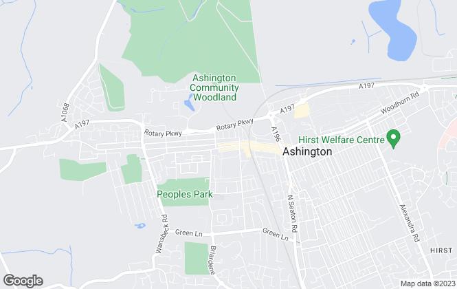 Map for Pattinson Estate Agents, Ashington