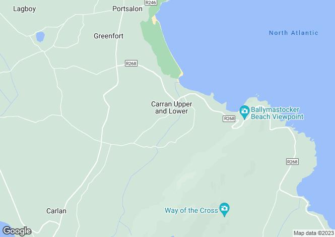 Map for 1 Carran Lower,Portsalon