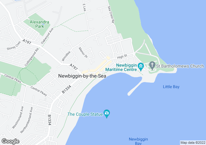 Map for Promenade, Newbiggin-By-The-Sea