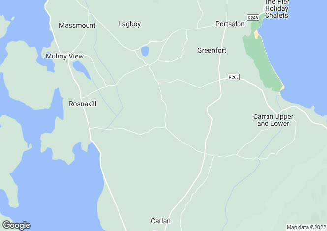 Map for Aghadreenan,Rosnakill