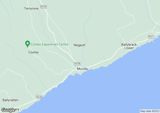 Map for Moville, Donegal
