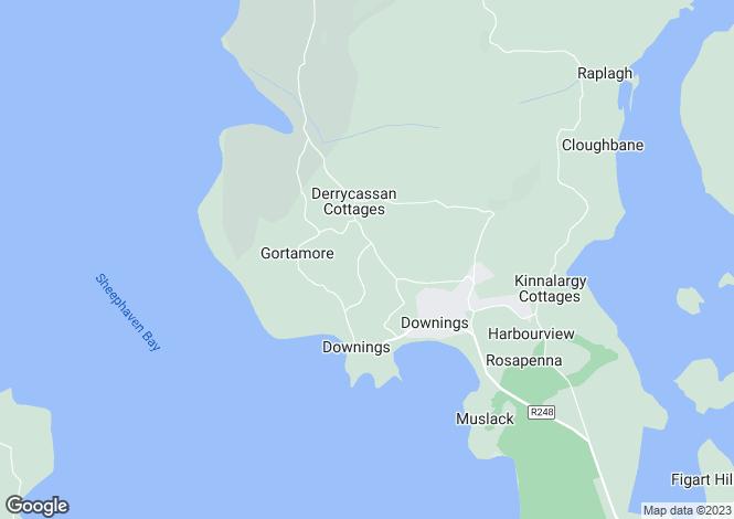 Map for 1 Crocknamurleog, Downings, Donegal