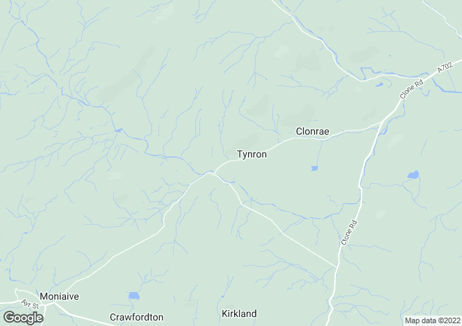 Map for Tynron, Thornhill, Dumfries and Galloway, DG3