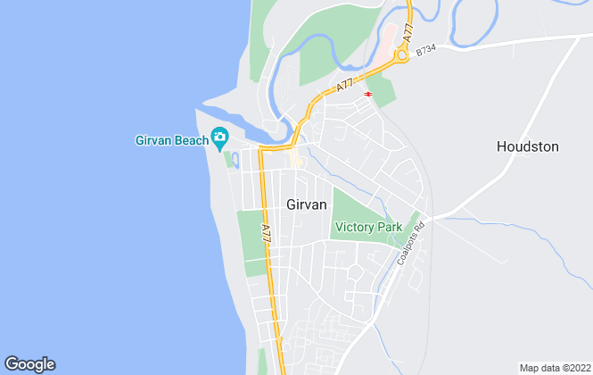 Map for Thomas Murray Property, Girvan