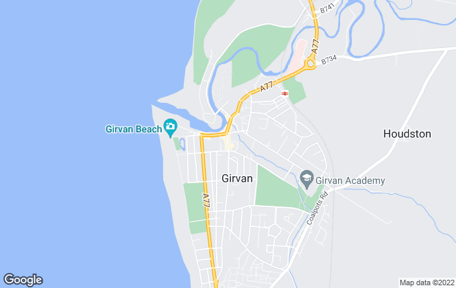 Map for Bruach Property, Girvan