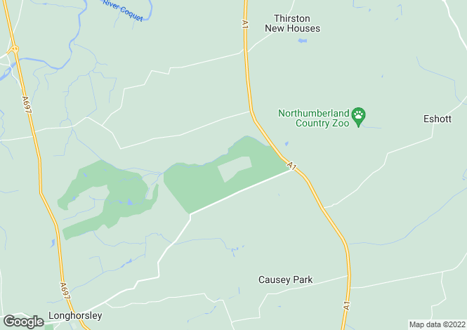 Map for Burgham Park, Felton, Morpeth, Northumberland