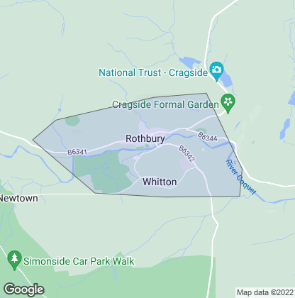 Map of property in Rothbury