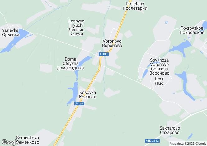Map for Voronovo, Moskovskaya Oblast`