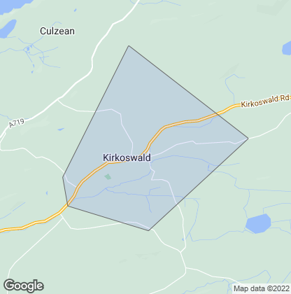 Map of property in Kirkoswald