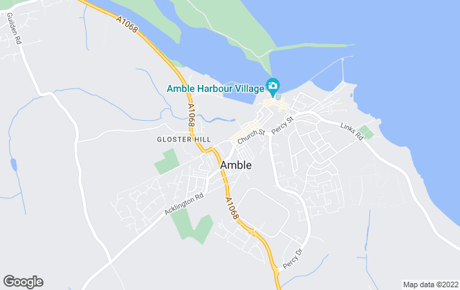 Map for Easyway estate agents, Amble
