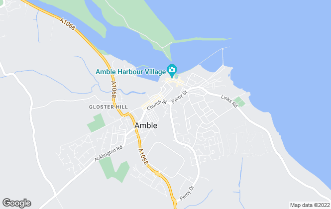 Map for Amble Development Trust, Amble