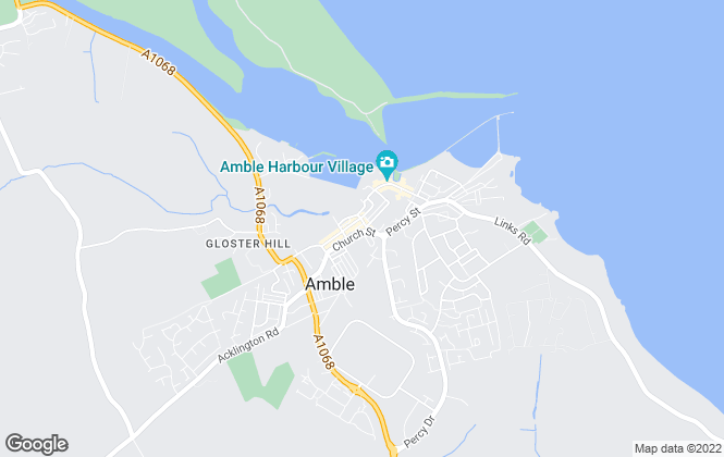 Map for Sam Allan Estates, Amble