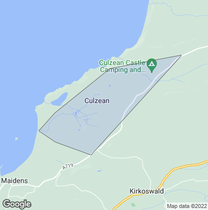 Map of property in Culzean