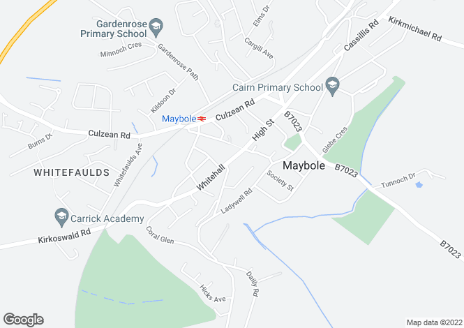Map for Whitehall - Maybole