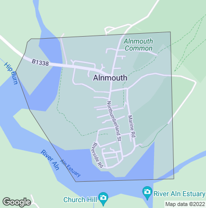 Map of property in Alnmouth