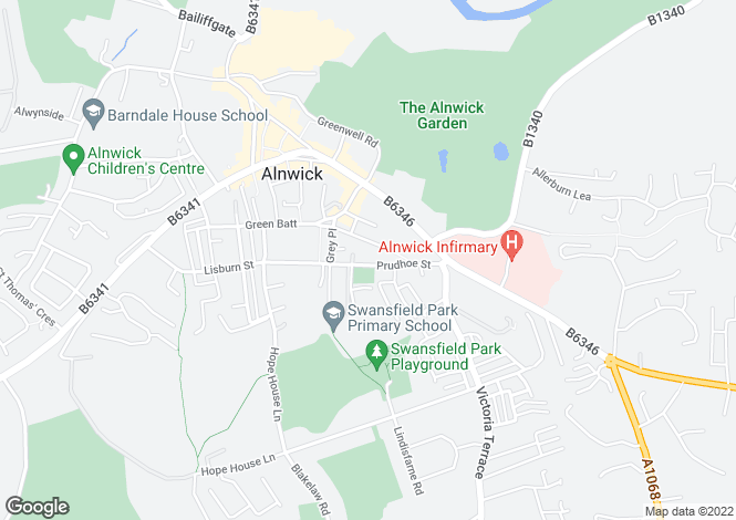 Map for Cherrywood Prudhoe Street, Alnwick, NE66
