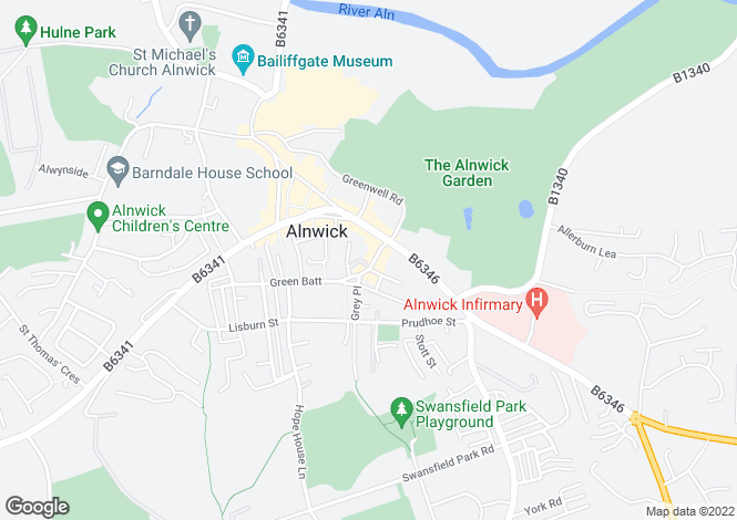 Map for Profitable bed & breakfast, Hotspur Street, Alnwick