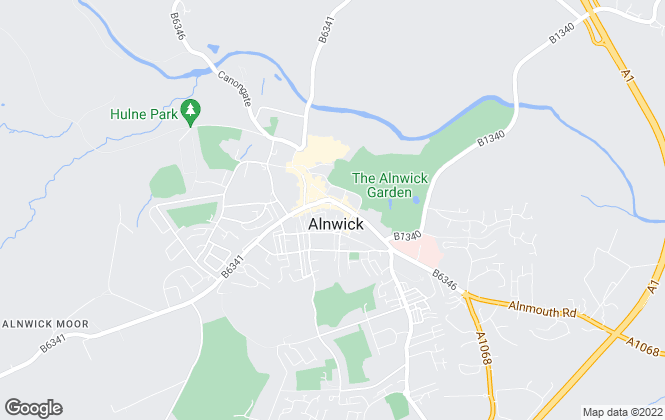 Map for Sanderson Young, Alnwick