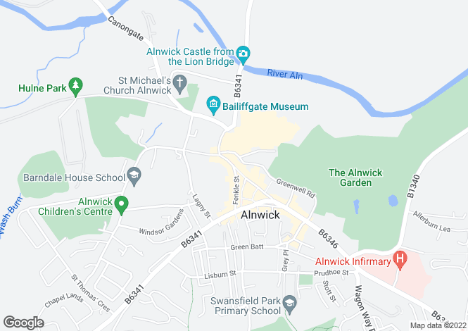Map for Narrowgate, ALNWICK, Northumberland