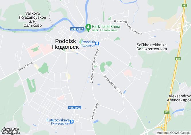 Map for Moskovskaya Oblast`, Podol`sk