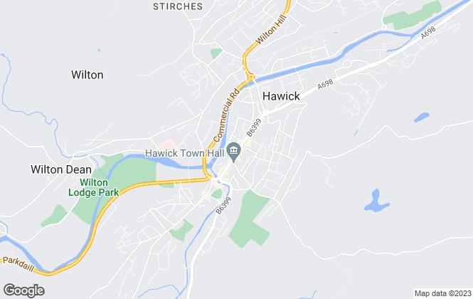 Map for Cullen Kilshaw, Hawick