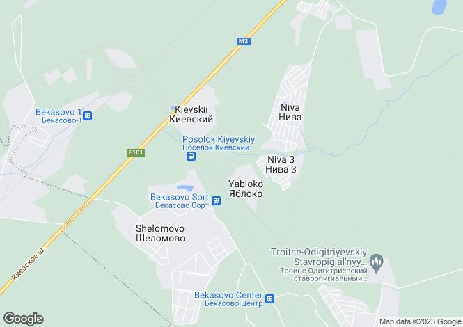 Map for Moskovskaya Oblast`, Kiyevskiy
