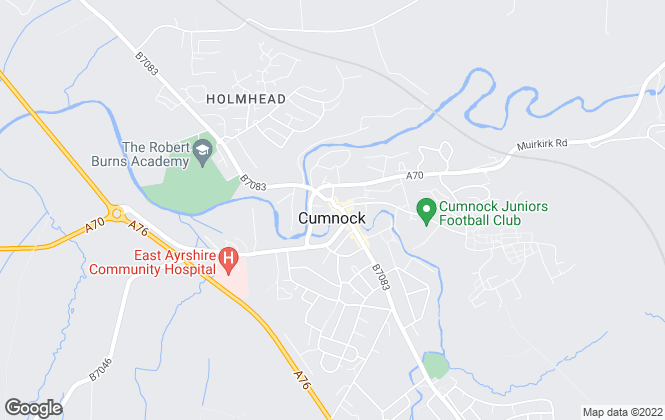 Map for Oakhouse Properties, Cumnock