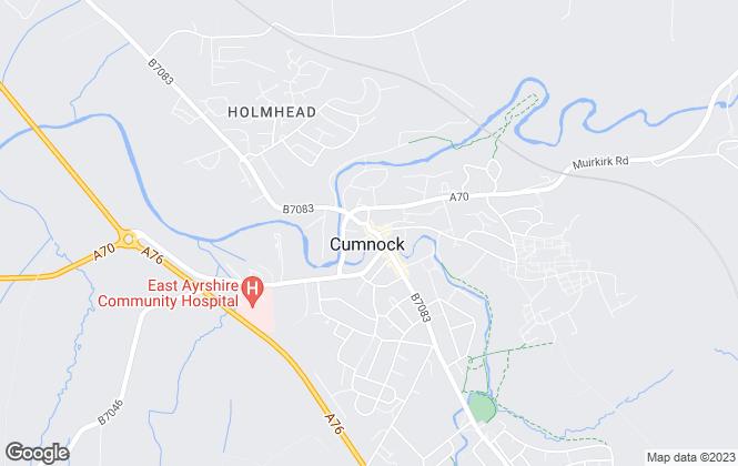 Map for Oakhouse Properties, Cumnock