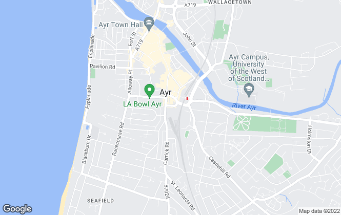 Map for Slater Hogg & Howison, Ayr
