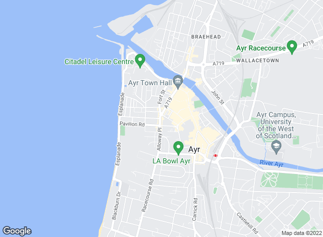 Map for Kenmore Letting Agency, Ayr