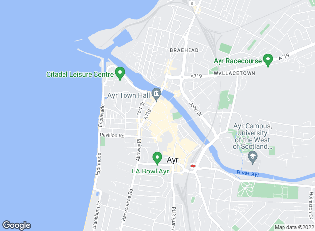 Map for New City Letting, Ayr