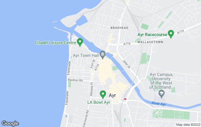 Map for Ayr Professional, Ayr