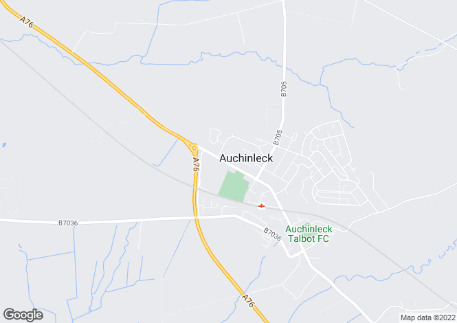 Map for Mauchline Road,
