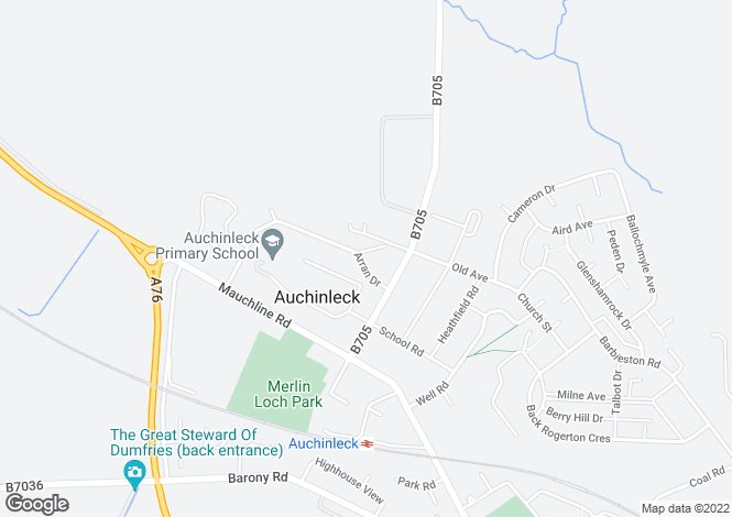 Map for Arran Drive,
