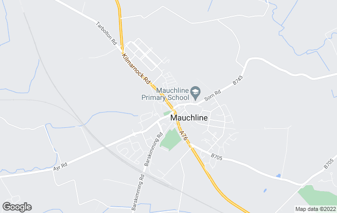 Map for DW Shaw, Mauchline
