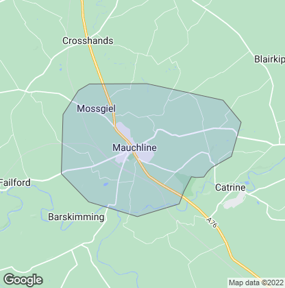 Map of property in Mauchline