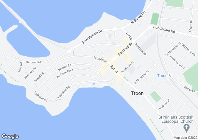 Map for West Portland Street,