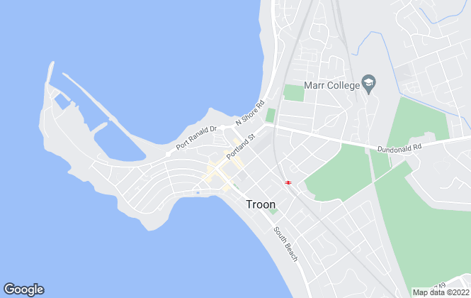 Map for Happy Home, Troon