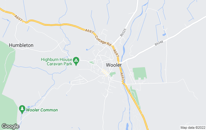 Map for Savills Lettings, Wooler
