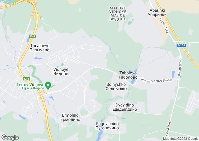 Map for Moskovskaya Oblast`, Vidnoye
